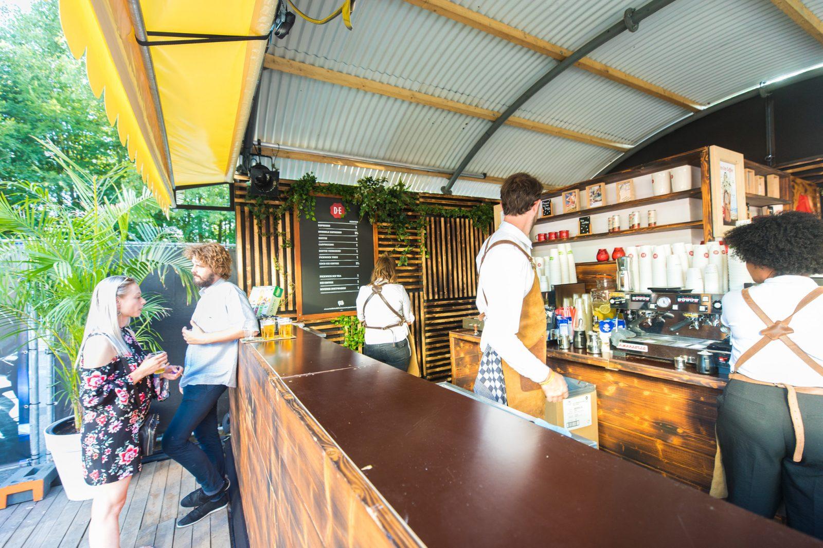 Triomf - De Espressobar op Hudson square sloot direct aan op het terras uitkijkend over het plein